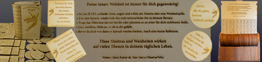 MANTRAS & WEISHEITS-PILLEN TO GO